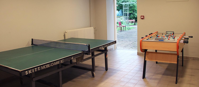 Salle de jeux au logis Saint-François dans l'Yonne