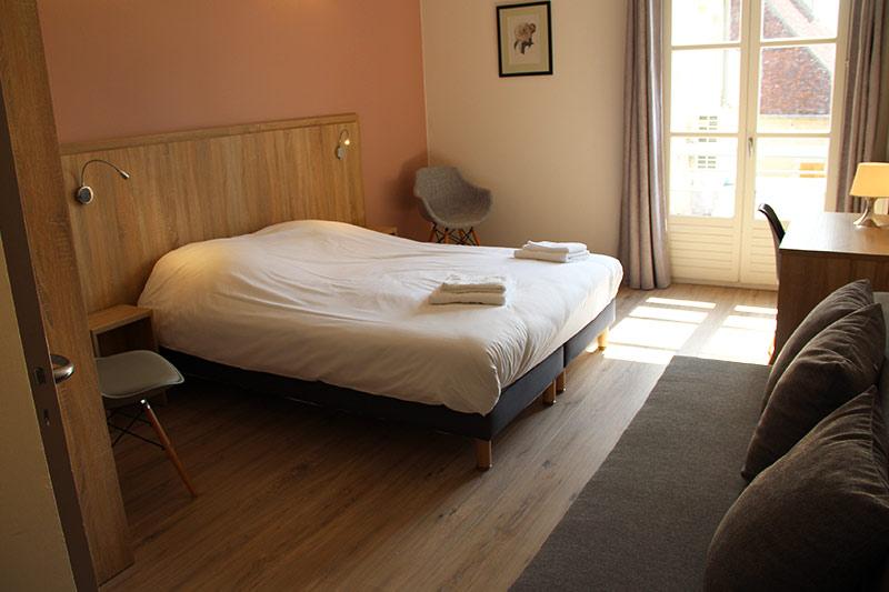 chambre double dans un gîte de charme en bourgogne
